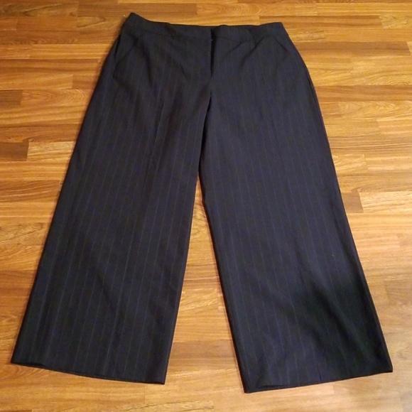 3930e91d71e Lane Bryant Pants - Lane Bryant Blue  White Stripes Trousers Sz. 22